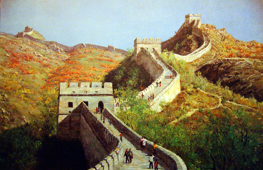 石成峰油畫風景作品